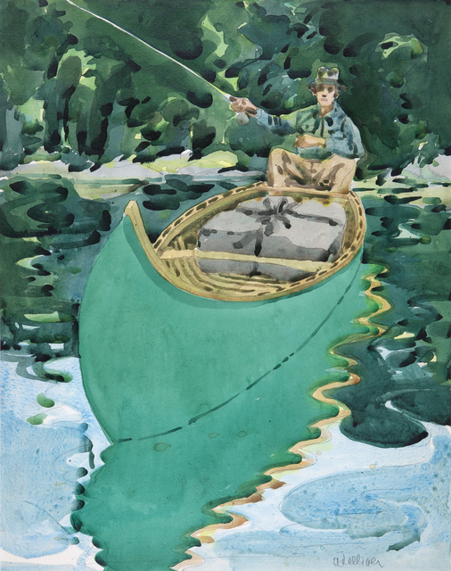 Neil G. Welliver, 'Study for Man in a Canoe', 1965, Dowling Walsh