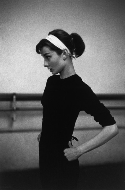 ", 'Audrey Hepburn filming ""Funny Face"" (Paris, France),' 1956, Magnum Photos"