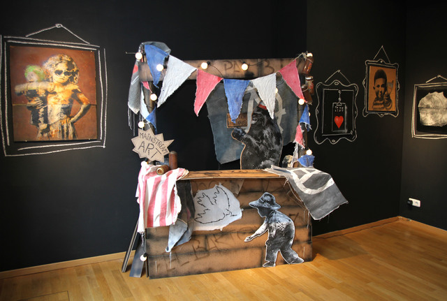 """, 'Installation """"Mainstream Art"""" Booth,' 2014, MUCA"""