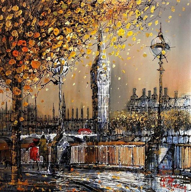 Nigel Cooke (b.1960), 'London Sunrise', 2020, Painting, Acrylic on aluminium panel, Reem Gallery