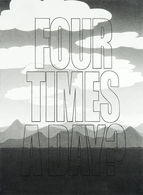 """, '""""Four Times a Day"""" ,' 2011, Galleria Raucci / Santamaria"""
