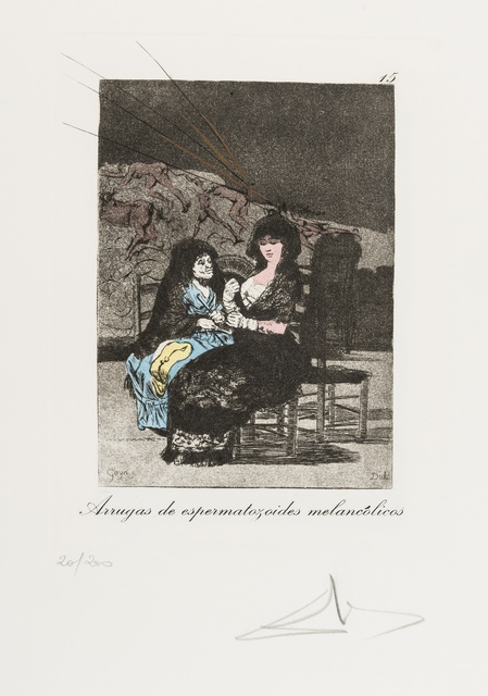 Salvador Dalí, 'Plate 15 (From Les Caprices de Goya de Dalí) (M & L 862; Field 77-3-66)', 1977, Print, Drypoint on heliogravure with stencil, Forum Auctions