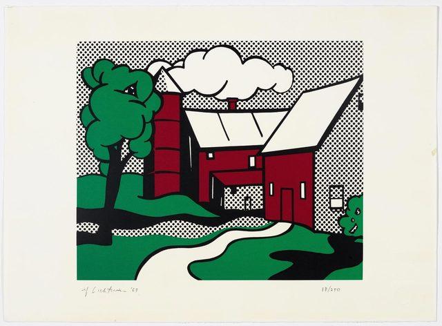 Roy Lichtenstein, 'Red Barn', 1969, Print, Colour screenprint, Koller Auctions