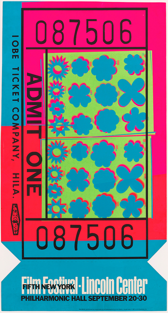 Andy Warhol, 'Lincoln Center Ticket', 1967, Hollis Taggart