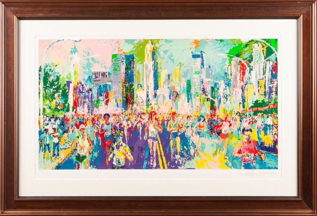 LeRoy Neiman, 'New York Marathon Skyline Painting Art Large Artwork Signed', 1980, Modern Artifact