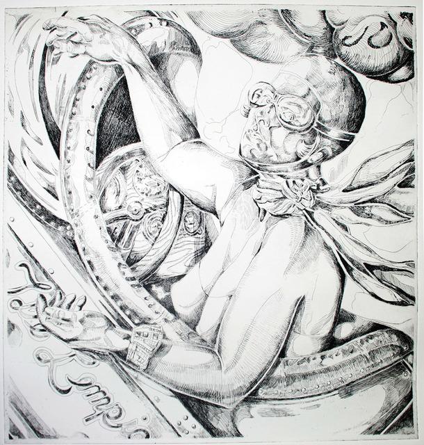 , 'T. de Lempicka on Autopilot (black ink),' 2011, Somerville Manning Gallery