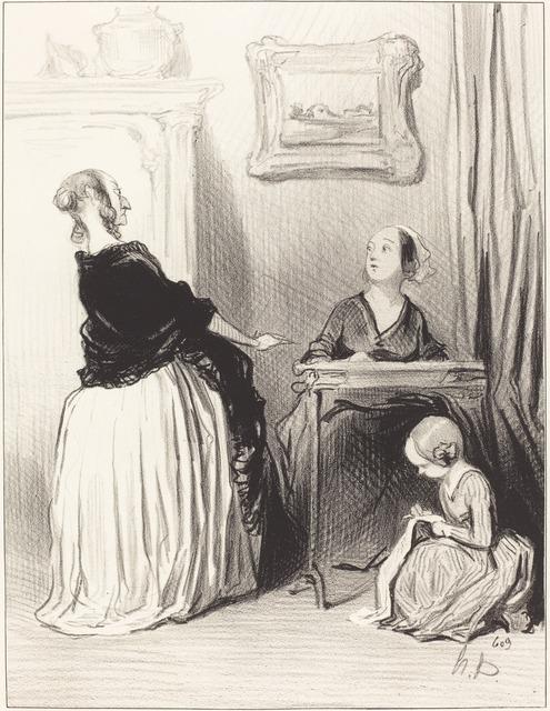 Honoré Daumier, 'Ah!... quelle singulière éducation vous donnez a votre fille?...', 1844, National Gallery of Art, Washington, D.C.