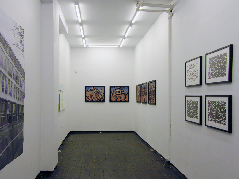 Installation view of 'Original Show, Season One' Curated by Stephen Hepworth. Featuring Matthew Abbott, Carl Fudge, and Joey Køtting. June 21 - July 24, 2015
