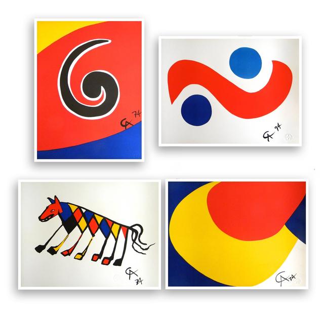 , 'Skyswirl, Skybird, Beastie and Convection (set of 4),' 1975, Artsnap