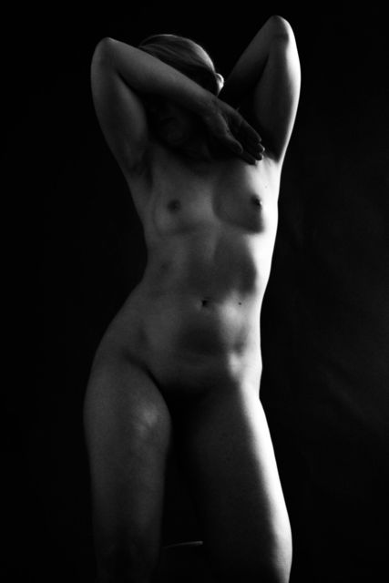 , 'Nude with Arms on Head,' 2017, Pleiades Gallery