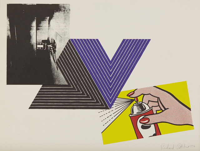 Richard Pettibone, 'Appropriation Print (with Andy Warhol, Frank Stella and Roy Lichtenstein)', 1970, Print, Screenprint in colors, on wove paper, with full margins., Phillips