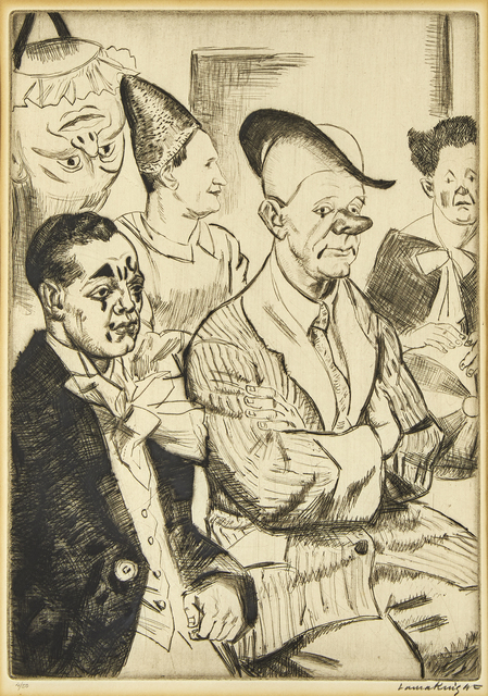 Dame Laura Knight DBE RA RWS, 'Some Clowns', 1930, Print, Drypoint etching on laid, Roseberys