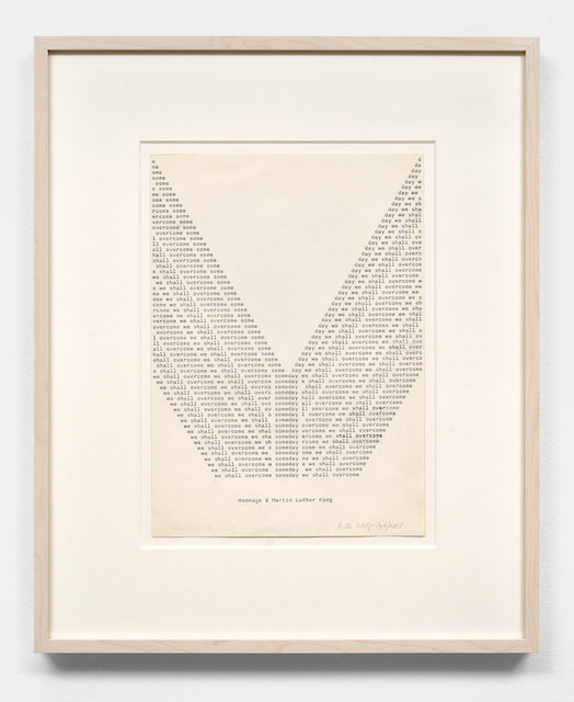 , 'Someday we shall overcome (Hommage à Martin Luther King),' 1970, ChertLüdde