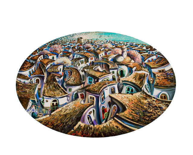 , 'Old City (oval),' 2018, Janet Rady Fine Art