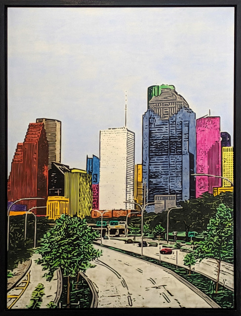, 'H-Town Skyline 92,' 2019, Archway Gallery
