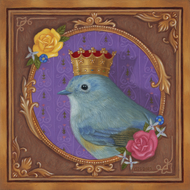 Gina Matarazzo, 'Queen Birdy', 2017, Painting, Oil on panel, Abend Gallery