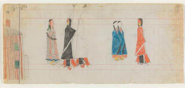 , 'Ledger Drawing, Courting Scene,' ca. 1885, Donald Ellis Gallery