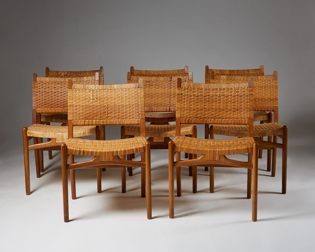 , 'Set of eight chairs CH31,' 1956, Modernity