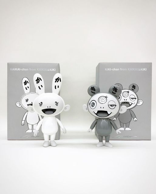 Takashi Murakami, 'Kaikai & Kiki, black and white version (set of 2)', 2019, DIGARD AUCTION