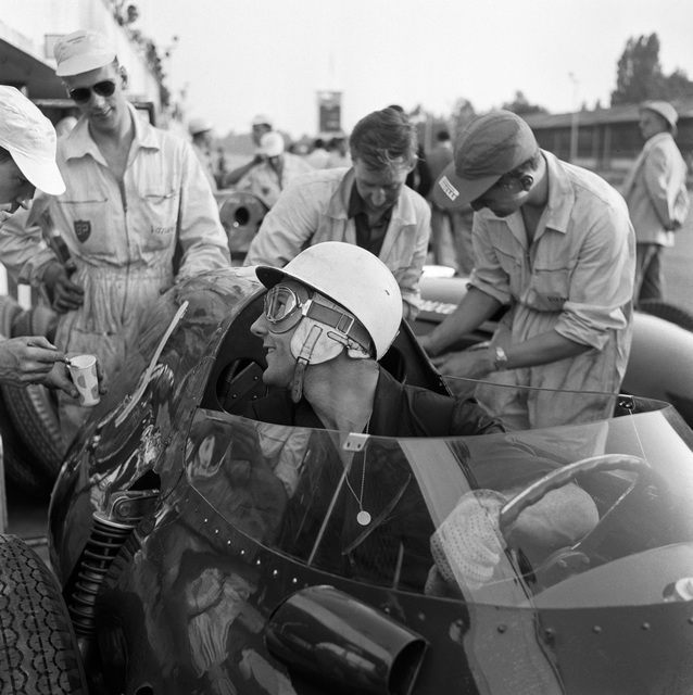 , 'Portrait of Stirling Moss in a Vanwall, Monza, Italy,' 1958, Robert Klein Gallery