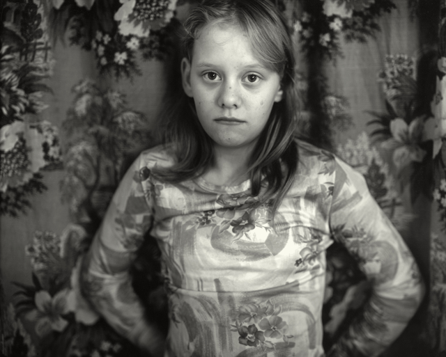 """Sally Mann, 'Untitled from the """"At Twelve"""" Series, Cindy in front of Curtain', 1983-1985, Photography, Silver gelatin print, Jackson Fine Art"""