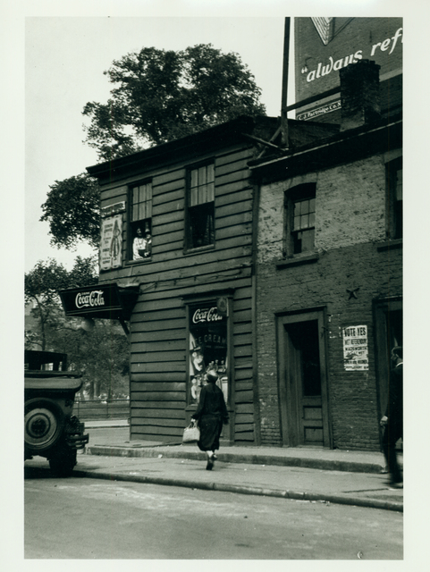 , 'Romany Marie's Tavern and the Oasis on Washington Square with Coca Cola signs,' ca. 1926, Delaware Art Museum