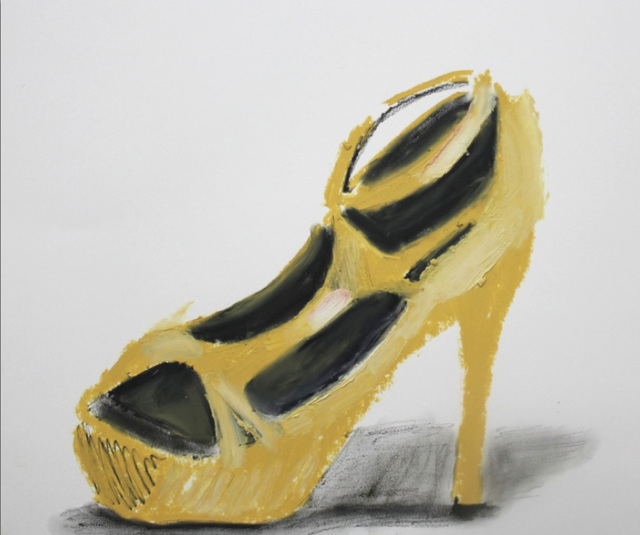 , 'Untitled (Yellow Shoe),' 2014, Johannes Vogt Gallery