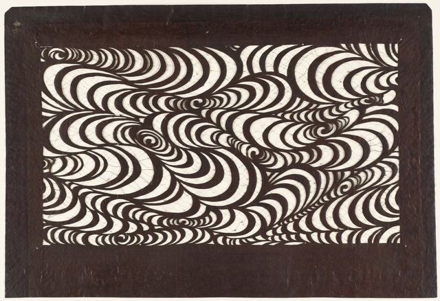 'Kategami Stencil, Water Pattern', late 19th -early 20th century, Cooper Hewitt, Smithsonian Design Museum