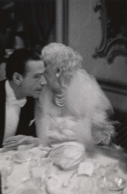 , 'Elderly woman whispering to her dinner partner, Grand Opera Ball, N.Y.C.,' 1959, San Francisco Museum of Modern Art (SFMOMA)