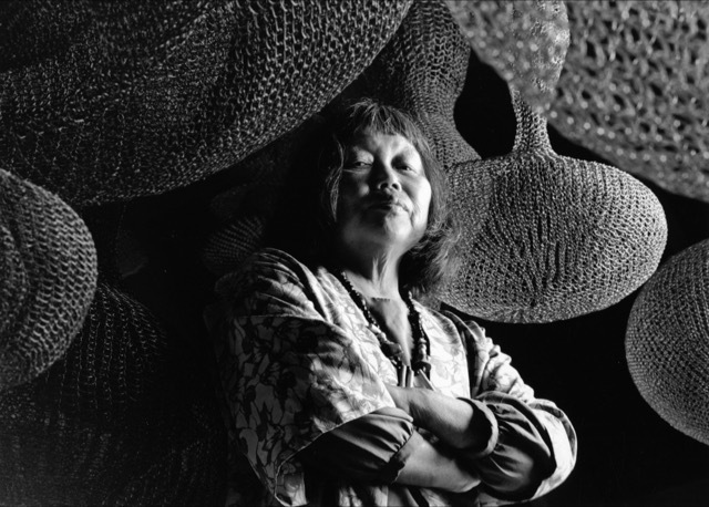 , 'Ruth Asawa, photographed in her San Francisco studio,' 1990, Staley-Wise Gallery
