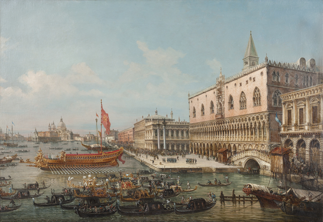 , 'The departure of the Bucintoro from San Marco to the Church of San Nicolò al Lido,' ca. 1869, Museo Soumaya