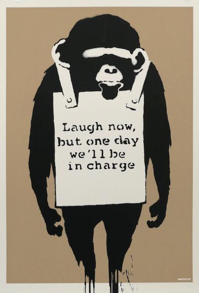 Banksy, 'Laugh now', 2003, Vroom & Varossieau