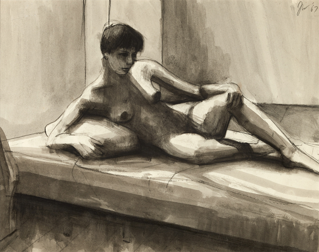 , 'charcoal and wash on paper,' 14, Brian Gross Fine Art