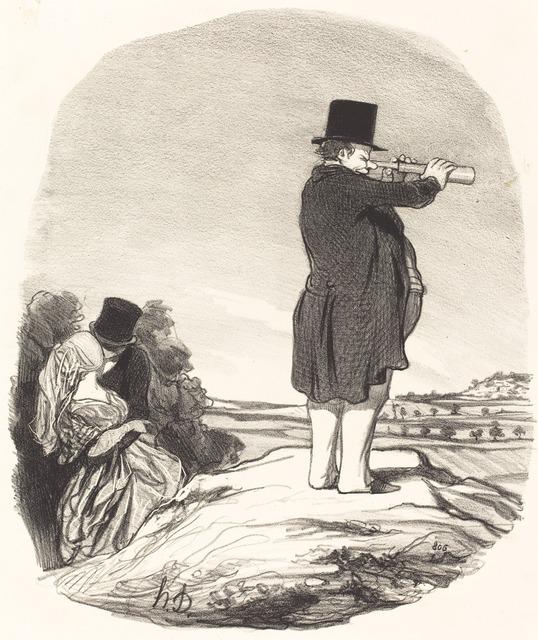 Honoré Daumier, 'Dis donc ma femme... je ne vois rien!', 1845, National Gallery of Art, Washington, D.C.