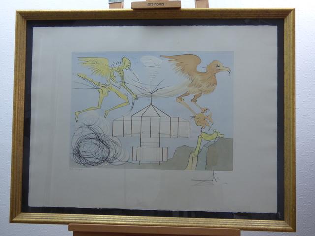 Salvador Dalí, 'L'Aéroplane (ex: Hommage à Leonardo da Vinci)', 1975, Print, Paper, Bakerhouse Gallery