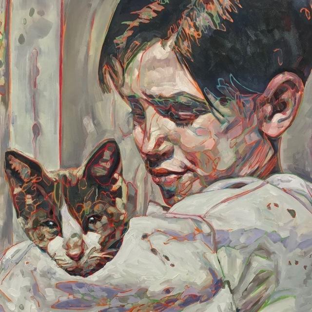 Hung Liu, 'Migrant Child: Cat', 2017, Turner Carroll Gallery