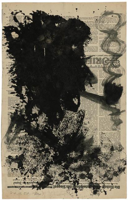 , 'Kopf eines Pfeifenrauchers,' 1959, Galerie Doebele
