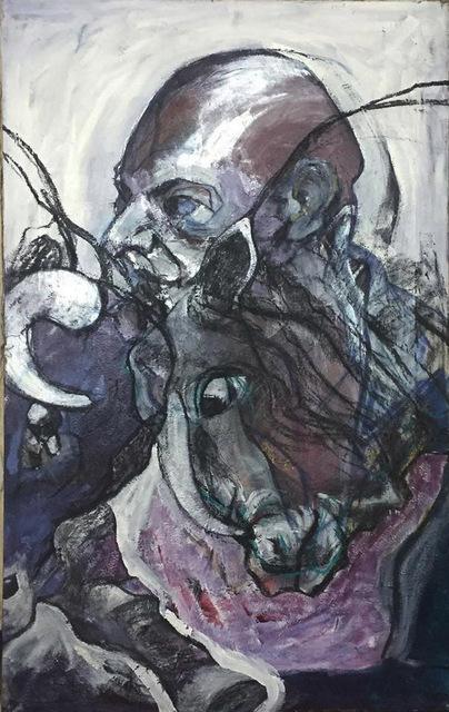, 'Bulls' Struggle,' 2016, Easel & Camera Contemporary Art Gallery