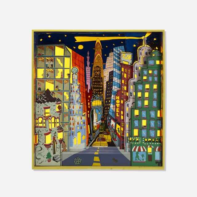 Red Grooms, 'City at Night: A Puzzle Block Set', 1974, Wright