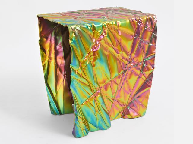 Christopher Prinz, 'Wrinkled Stool', 2018, Design/Decorative Art, Plated steel, leveling feet, Patrick Parrish Gallery