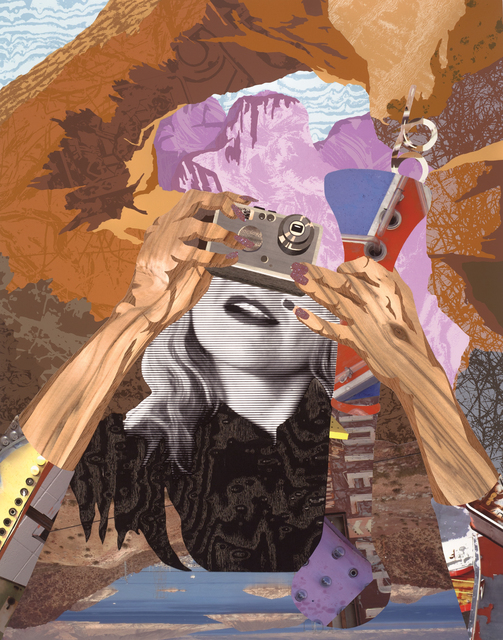 Alison Elizabeth Taylor, 'Schilderachtig', 2013, Print, Screenprint, archival inkjet, collage with wood veneer and glitter, BAM Benefit Auction