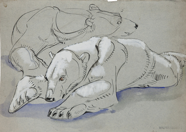 , 'Bears: Polar Bear Study,' 1940, Cade Tompkins Projects