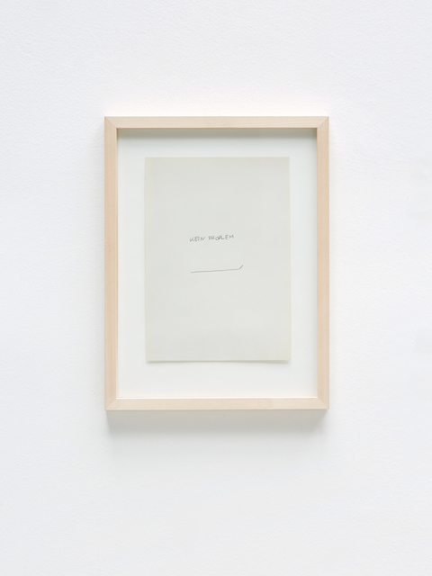 , 'Kein Proplem,' 2018, Gallery AM MEER