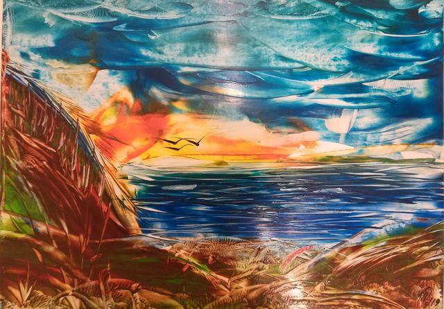 Matthias Dräbing, 'Feuriger Sonnenuntergang ', 2018, Galerie Makowski