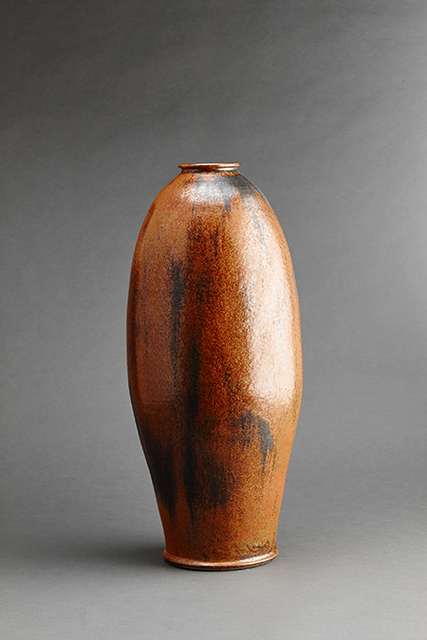 , 'Tall vase, burnt orange iron glaze,' , Pucker Gallery