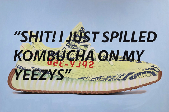 , 'Oh Shit! I Just Spilled Kombucha on my Yeezys,' 2018, Roman Fine Art