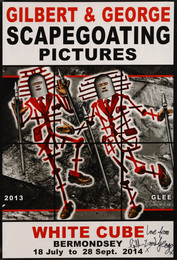 A collection of 5 exhibition posters from Scapegoating Pictures, White Cube, Bermondsey