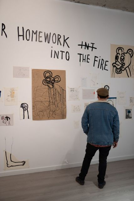 Lea Rasovszky, 'Ode to My Left Hand', 2020, Installation, Drawing, painting, object, text intervention, Art Encounters Foundation