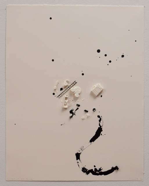 , 'Untitled with fallen things,' 2014, Espacio Mínimo