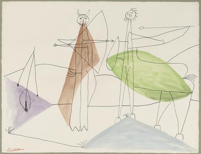 , 'Le combat de faune et de centaure,' 1946, DICKINSON